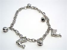 Black and Silver Color Dolphin Design ladies Chain Bracelet for Casual  9 to 5 Collection