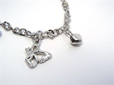 Black and Silver Color Butterfly Design ladies Chain Bracelet for Casual  9 to 5 Collection