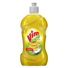 Vim Dishwash Liquid Gel Lemon Bottle