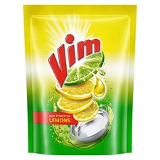 Vim Dishwash Liquid Gel Lemon Refill Pouch