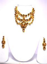 Triple Layered Necklace Jewellery Set for Women