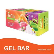 Fiama Gel Bar 125g (Pack of 4) with 1 Multi-Variant
