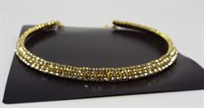 Double Layer Golden and Silver Color Necklace Jewellary Set for Girls in Circular Solid Half