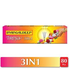 Mangaldeep Treya 3in1 Agarbatti - 80 Sticks