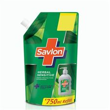 Savlon Herbal Sensitive pH balanced Liquid Handwash Refill Pouch 750ml