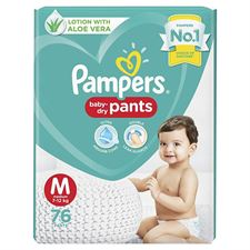 Pampers Diaper Pants Lotion with Aloe Vera - M(76 Pieces)