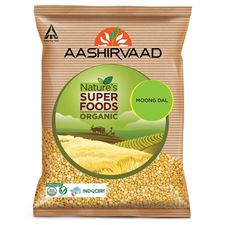 Aashirvaad Natures Super Foods Organic Moong Dal 500G