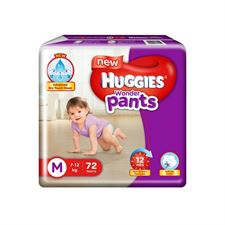 Huggies Wonder Diapers Pants Medium (Pack of 72)