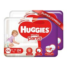 Huggies Wonder Pants Double Extra Large (XXL) Size Diapers Combo Pack of 2 24 Counts Per Pack  48 Count