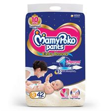 MamyPoko Pants Extra Absorb Diapers Small (Pack of 42)