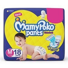 MamyPoko Pants Standard Medium Size Diapers (18 Count)