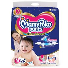 MamyPoko Pants Extra Absorb Diapers - M(52 Pieces)