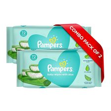 Pampers Baby Gentle wet wipes with Aloe 144 count 97 Pure Water