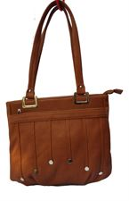 Brown Color Leather Ladies Handbag for casual and 9 to 5 Collection