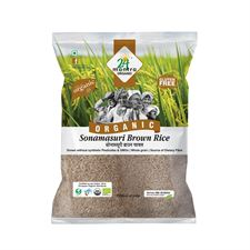 Organic SONAMASURI RAW RICE BROWN ORGA 1 KG