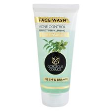GORGEOUS COSMOS NEEM  BRAHMI ACNE CONTROL PERFECT DEEP CLEANSING FACE WASH 200 ML