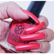 GORGEOUS COSMOS WATERBASED RED NAILPOLISH - RED CERISE